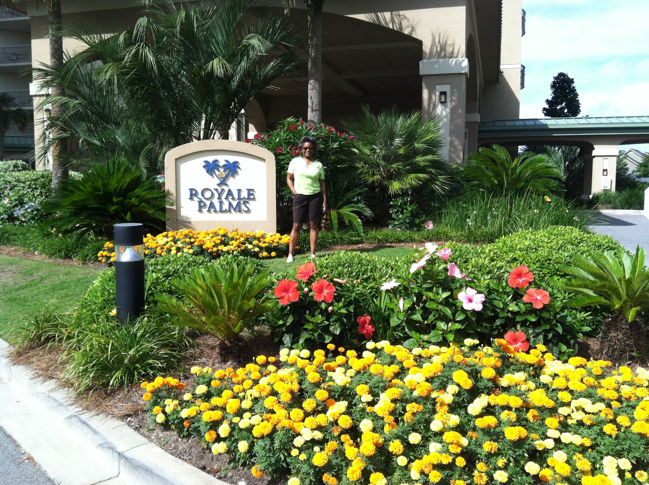Brynn at Royale Palms in Myrtle Beach how to garden beginner gardener