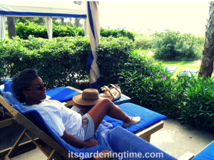 Brynn Relaxing Under Cabanna